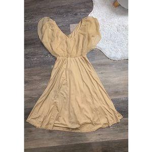 Champagne Mid-Length Flowy H&M Dress